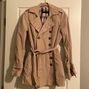 Zara Womens tan trench coat